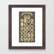 Game Of Thrones ABC Framed Art Print