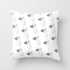 continuous typing pattern Throw Pillow