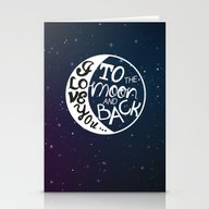 I LOVE YOU To The MOON A… Stationery Cards