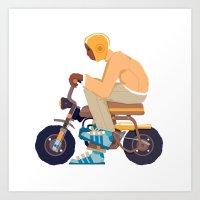 #2 HONDA Z50 Art Print