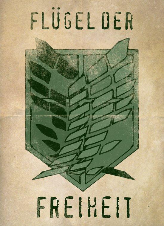 Flugel der Freiheit - Attack on Titan / Shingeki no Kyojin Art Print