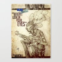 When I look in your eyes Canvas Print