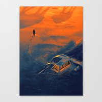 In the middle of nowhere Canvas Print