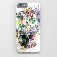 iPhone Cases featuring Skull - Parrots 2 by RIZA PEKER