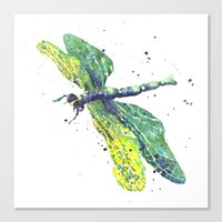 Dragonfly - Green Goddes… Canvas Print