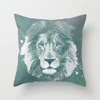 Lion's mark Throw Pillow
