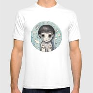 Little Ghost Boy Toshio Mens Fitted Tee White SMALL