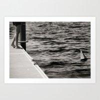 boat & sea Art Print