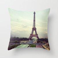 Summer In Paris Throw Pillow