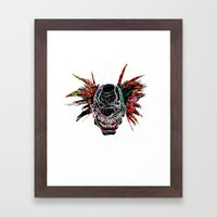 Psychedelic Clown Framed Art Print