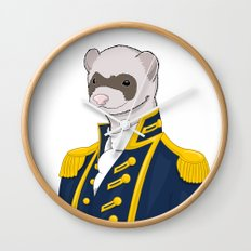Captain Ferret Wall Clock
