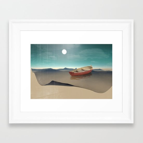 at sea in a void Framed Art Print