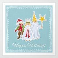 Happy Holidays says Saint Lucia Art Print