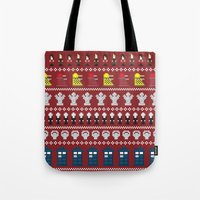 Doctor Who - Time of The Doctor - 8 bit Christmas Special Tote Bag