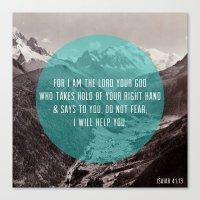 Isaiah 41:13 Canvas Print
