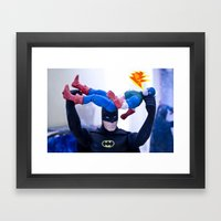 Captain America In Troub… Framed Art Print