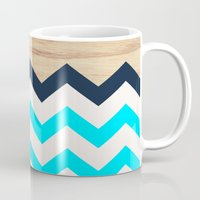 Chevron & Wood Mug
