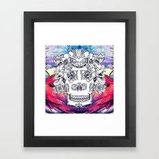 Sugar Skull Splash Framed Art Print