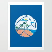 Beach Volleyball Art Print
