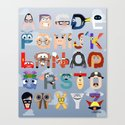 P is for Pixar (Pixar Alphabet) Canvas Print