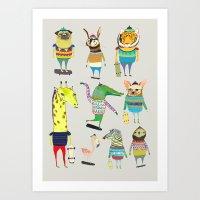 Skateboarders, Skaters, … Art Print