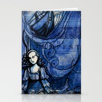 The Tempest - Miranda - Shakespeare Folio Illustration Stationery Cards