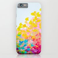CREATION IN COLOR - Vibrant Bright Bold Colorful Abstract Painting Cheerful Fun Ocean Autumn Waves iPhone 6 Slim Case