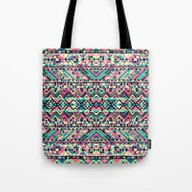 Pink Turquoise Girly Azt… Tote Bag