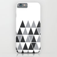 iPhone Cases featuring Silver On White by Bakmann Art