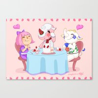Animal Crossing :: Cake time Canvas Print