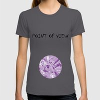 The mask - purple Womens Fitted Tee Asphalt SMALL