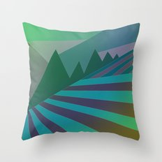 Evening Field Throw Pillow