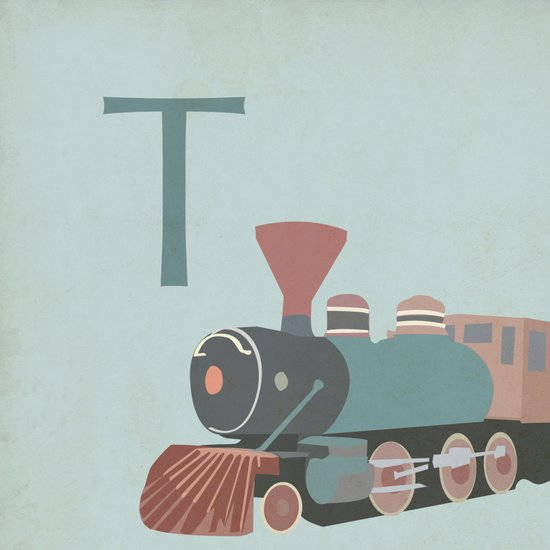T is for Train Art Print