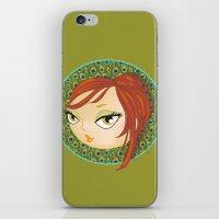 Ms Peacock iPhone & iPod Skin