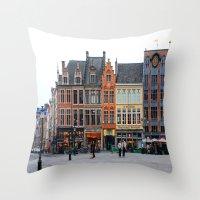 Brugge Throw Pillow