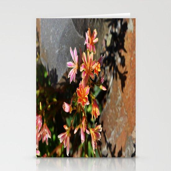 Orange Flowers Stationery Card