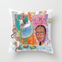 India Dancer Throw Pillow