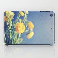 Ranunculus (on Blue) iPad Case