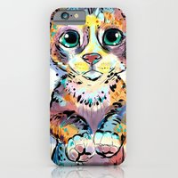 iPhone & iPod Case featuring Pretty Kittie by Cartoon Your Memories