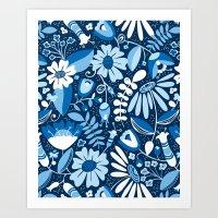 Annabelle - Blues Art Print