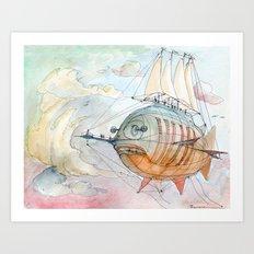 The Flying Fish! Art Print