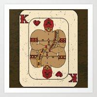 el Rey De Corazones Art Print