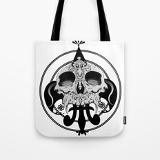 skull and pen Tote Bag