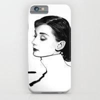 iPhone & iPod Case featuring My Audrey Hepburn by Joe Tin Illustration