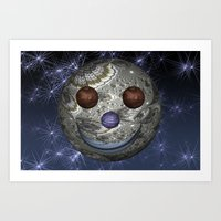 Happy Moon Art Print