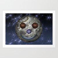 Happy Moon Art Print