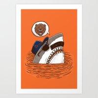 Da Chicago Shark Art Print