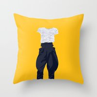 horse pants Throw Pillow