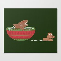 Gingerbread Jaws Canvas Print