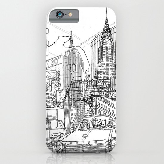 New York! B&W iPhone & iPod Case